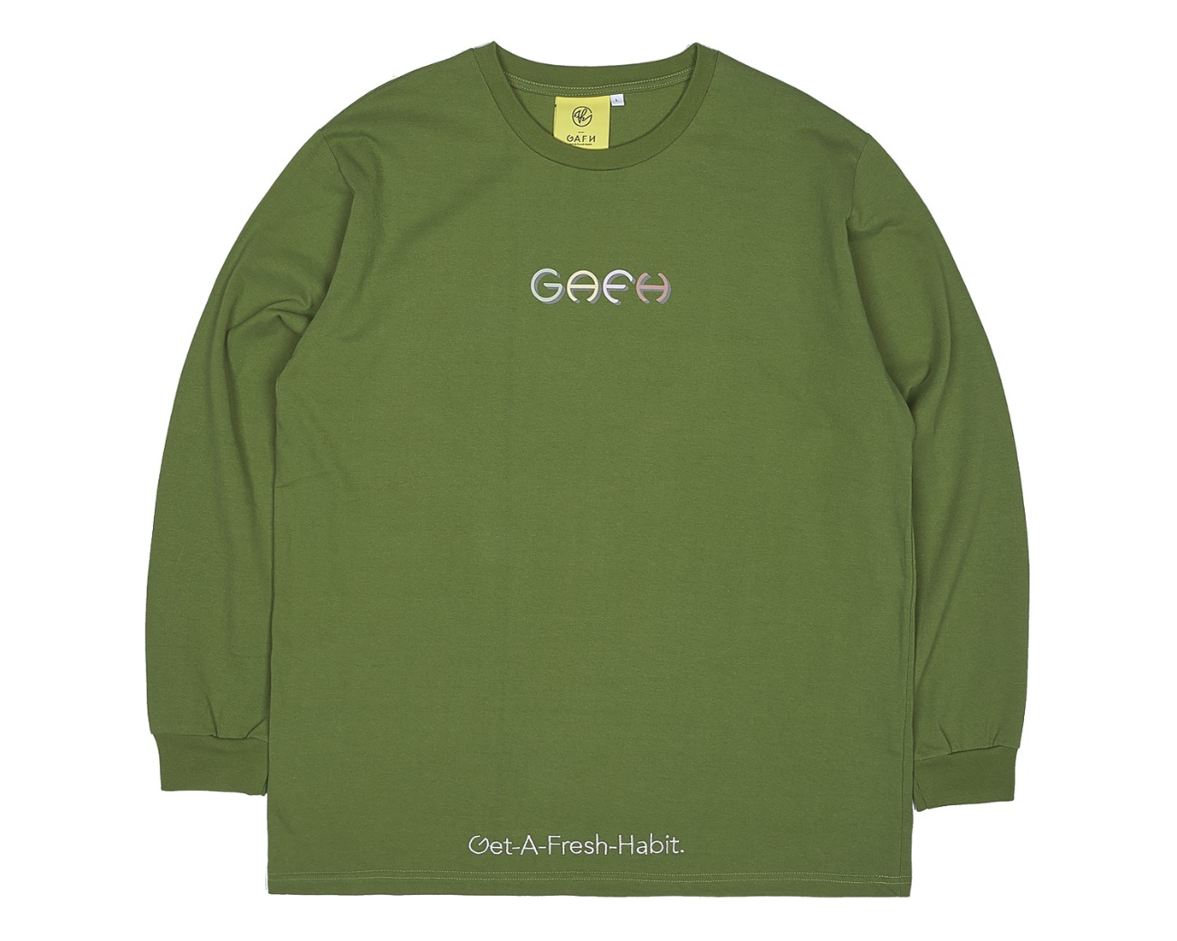 COLOR LOGO LONG SLV GREEN / GAFH