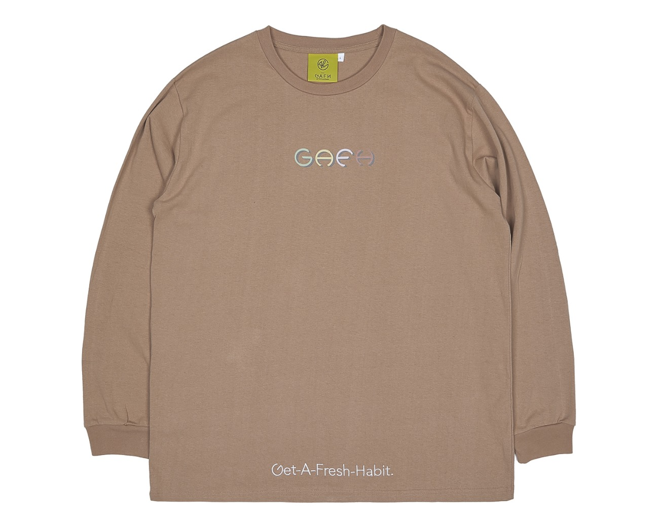 COLOR LOGO LONG SLV BROWN / GAFH