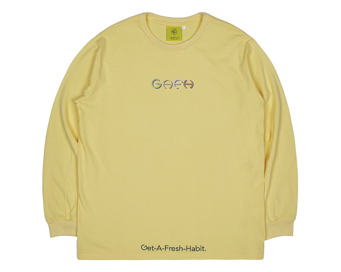 COLOR LOGO LONG SLV YELLOW / GAFH