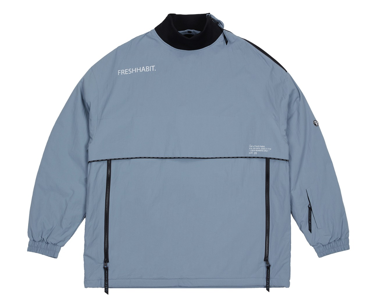 SHOULDER ZIP UP PULLOVER SMOKE BLUE / GAFH